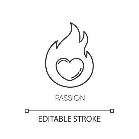 Passion pixel perfect linear icon