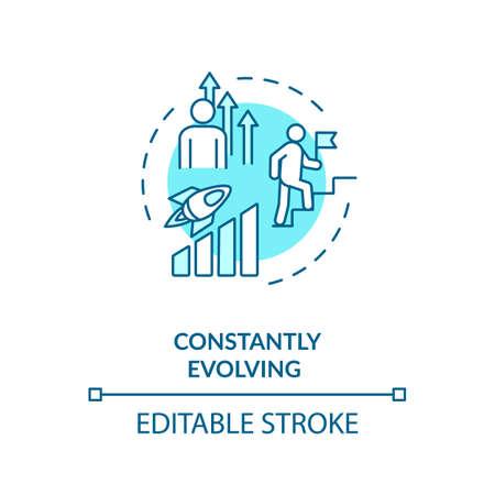 Constant evolving concept icon Vektoros illusztráció