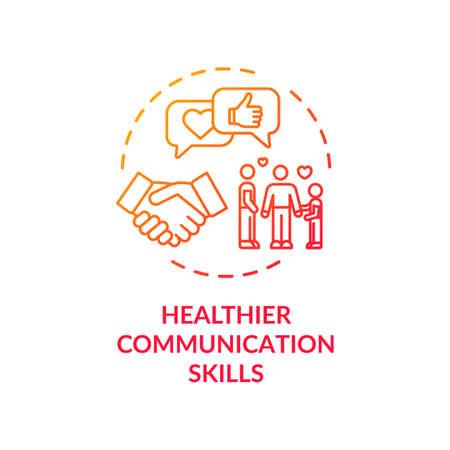 Healthier communication skills concept icon
