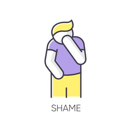 Shame RGB color icon Illustration