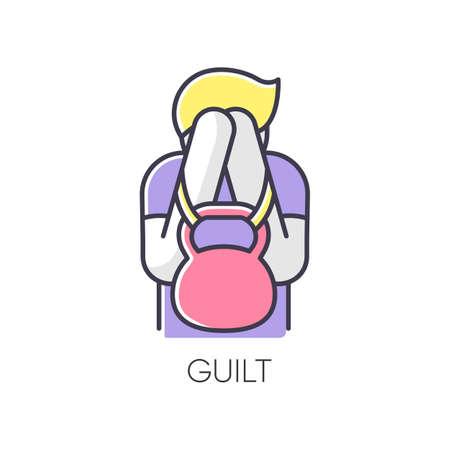 Guilt RGB color icon