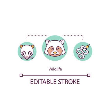 Wildlife concept icon