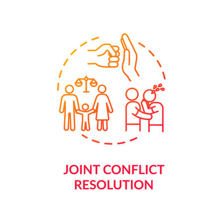 Joint conflict resolution concept icon