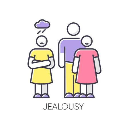 Jealousy RGB color icon