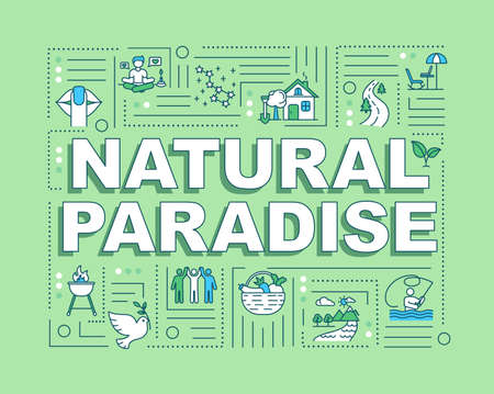 Natural paradise word concepts banner