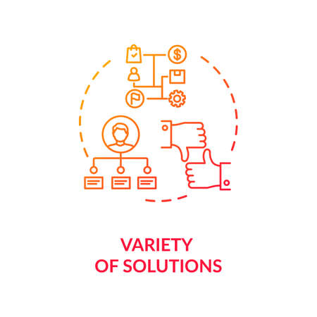 Variety of solutions concept icon