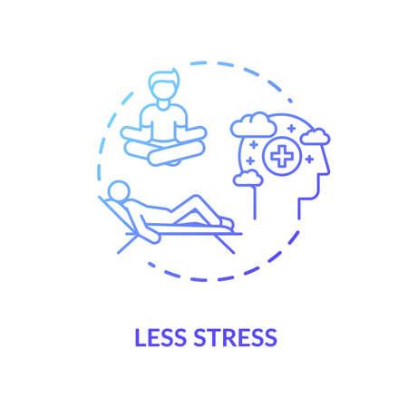 Less stress blue concept icon