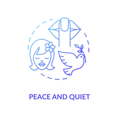 Peace and quiet blue concept icon Ilustración de vector