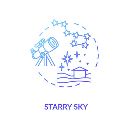 Starry sky blue concept icon 向量圖像