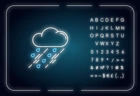 Showers neon light icon