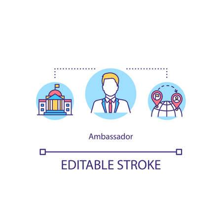 Ambassador concept icon