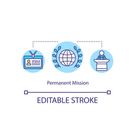 Permanent mission concept icon Ilustrace