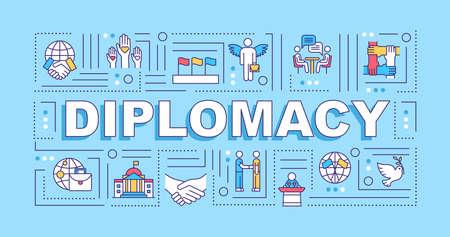 Diplomacy word concepts banner Reklamní fotografie - 147294547