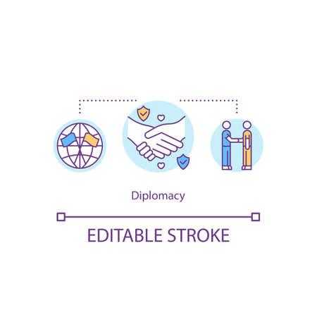 Diplomacy concept icon Reklamní fotografie - 147294772