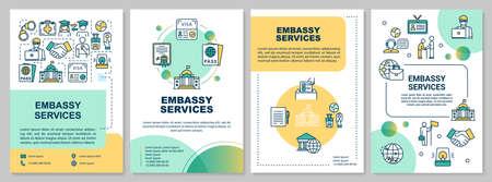 Embassy service brochure template Illustration
