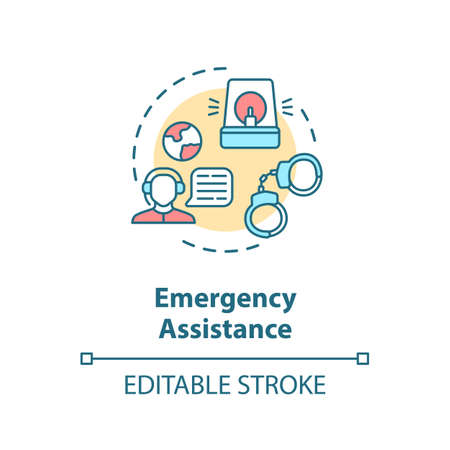 Emergency assistance concept icon Иллюстрация