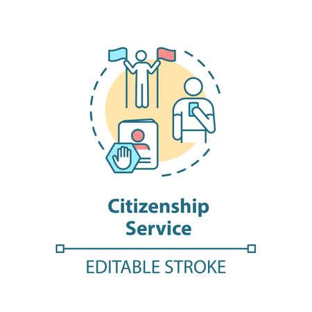 Citizenship service concept icon