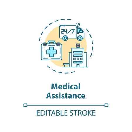 Medical assistance concept icon Иллюстрация