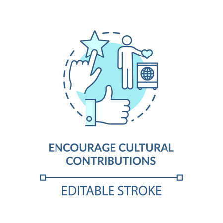 Encourage turquoise cultural contribution concept icon