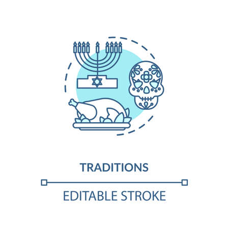 Tradition turquoise concept icon