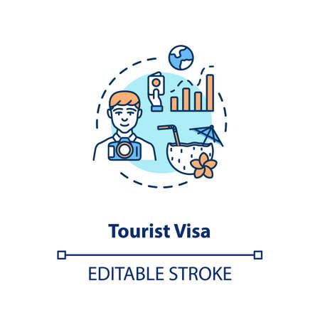 Tourist visa concept icon