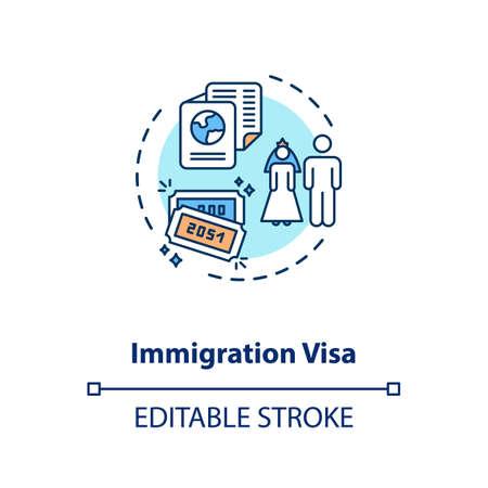 Immigration visa concept icon