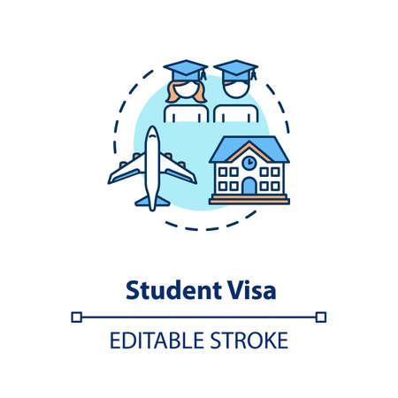 Student visa concept icon