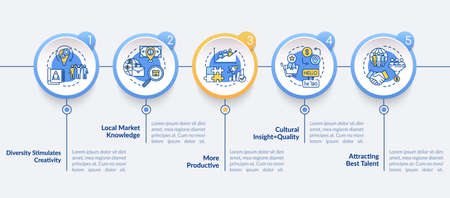 Multi national team vector infographic template Иллюстрация