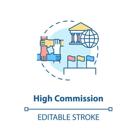 High commission concept icon