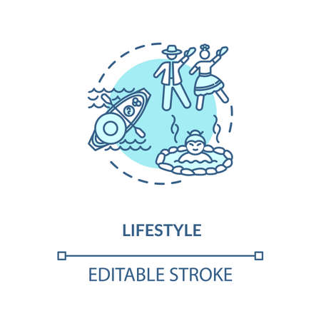 Lifestyle turquoise concept icon