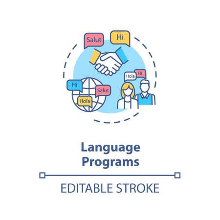 Language programs concept icon