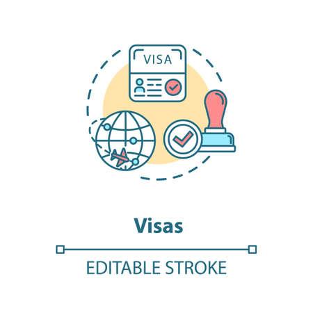 Visa concept icon