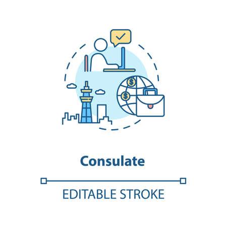 Consulate concept icon Ilustrace