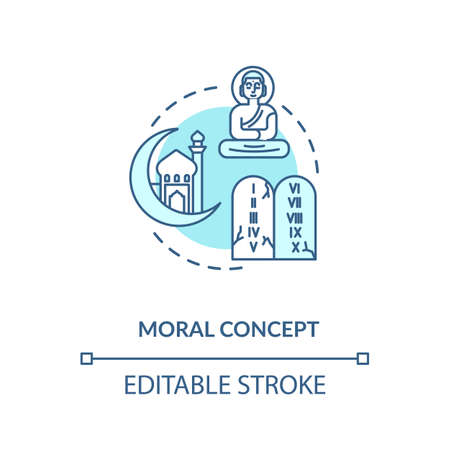 Moral turquoise concept icon Иллюстрация