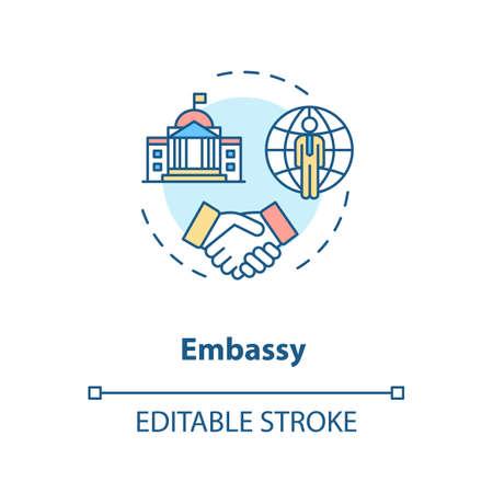 Embassy concept icon Ilustrace