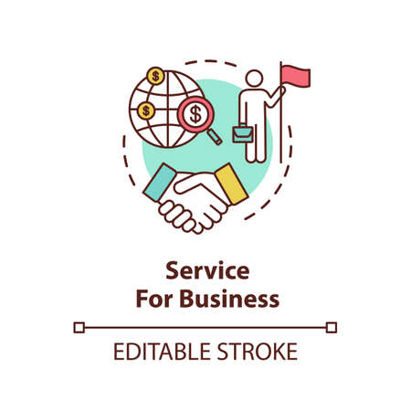 Service for business concept icon