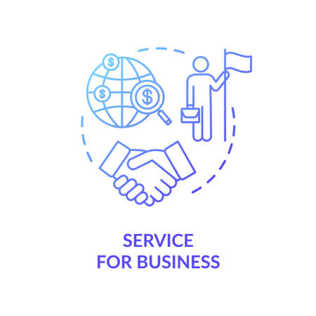 Service for business concept icon. International partnership idea thin line illustration. Company globalization. Directors agreement. Vector isolated outline RGB color drawing
