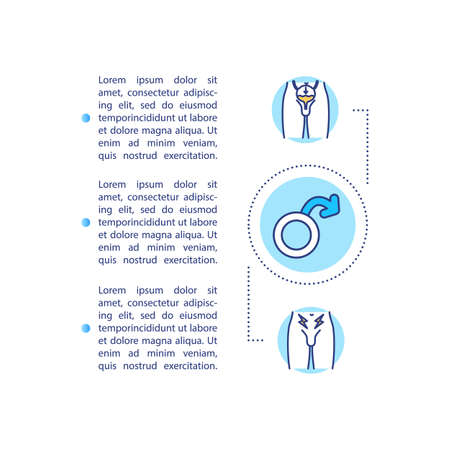 Prostatitis concept icon with text. Prostate gland infection symptoms, groin pain and frequent urination. PPT page vector template. Brochure, magazine, booklet design element with linear illustrations