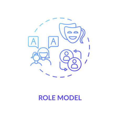 Role model concept icon. Respected mentor, parent figure, authority person idea thin line illustration. Inspiring example, trusted leader. Vector isolated outline RGB color drawing