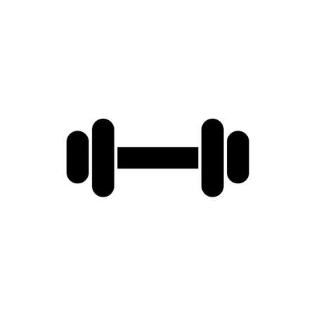 Barbell black glyph icon. Fitness center. Gym workout. Sport activity. Muscle training. Body building. Heavy lifting. Physical health. Silhouette symbol on white space. Vector isolated illustration