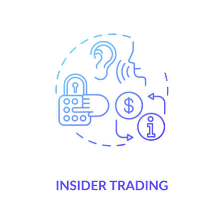 Insider trading concept icon. Non public information selling. Common corporate crime. Secret data buying idea thin line illustration. Vector isolated outline RGB color drawing