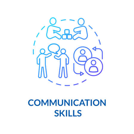 Toddlers communication skills concept icon. Early childhood education and relationships. Children socialization. idea thin line illustration. Vector isolated outline RGB color drawing 向量圖像