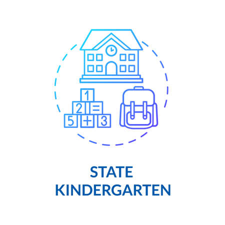 Children state kindergarten concept icon. Toddlers care and development. Preschoolers. Early childhood education idea thin line illustration. Vector isolated outline RGB color drawing