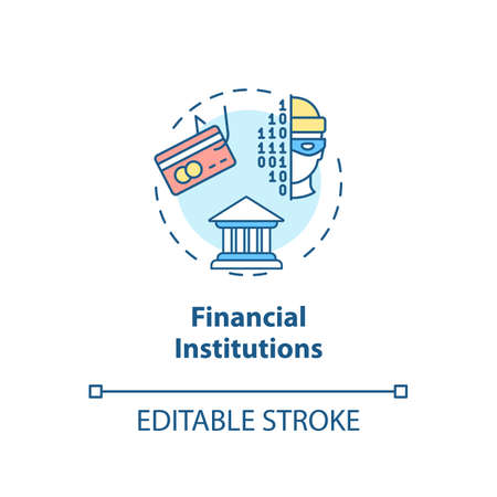 Financial institutions concept icon. Economic security. Bank robbery prevention idea thin line illustration. Keypad authentication. Vector isolated outline RGB color drawing. Editable stroke