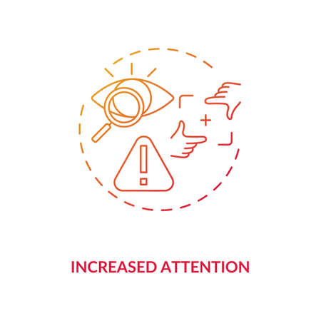 Increased attention concept icon. Energy beverages for concentration idea thin line illustration. Mental performance improvement. Caffeine intake. Vector isolated outline RGB color drawing