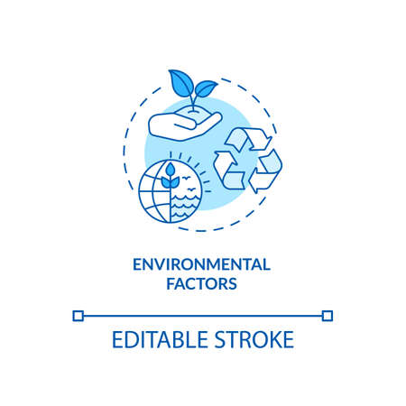 Environmental factors concept icon. PESTEL analysis. Cooperation with one eco goal. Natural communication idea thin line illustration. Vector isolated outline RGB color drawing. Editable stroke