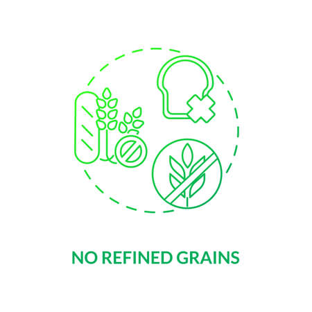 No refined grains concept icon. Organic food culinary advices. Healthy meal preparations recipes. Sustainable diet idea thin line illustration. Vector isolated outline RGB color drawing