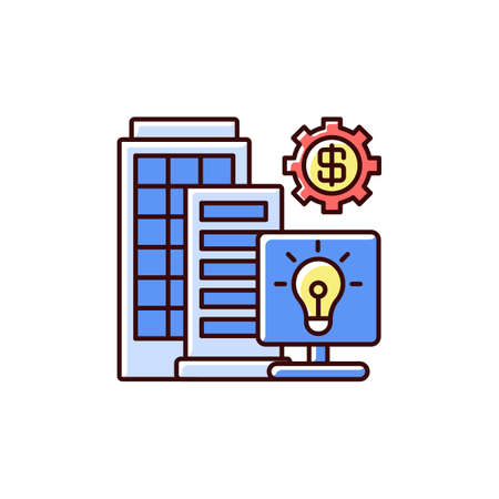 Silicon valley RGB color icon. High technology and innovation center. Information technology workers. High-tech companies. Innovators and manufacturers. Research parks. Isolated vector illustration