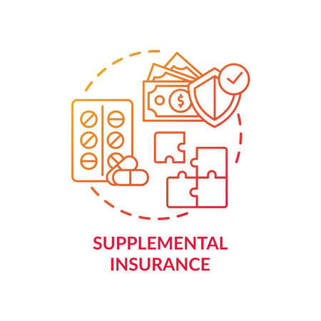 Supplemental insurance concept icon. Disability insurance types. Different money helping after accident plans idea thin line illustration. Vector isolated outline RGB color drawing