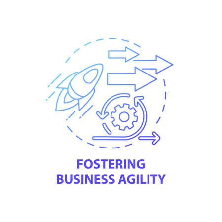 Fostering business agility concept icon. Business consulting task idea thin line illustration. Customer centricity. Developing finance staff skills. Vector isolated outline RGB color drawing